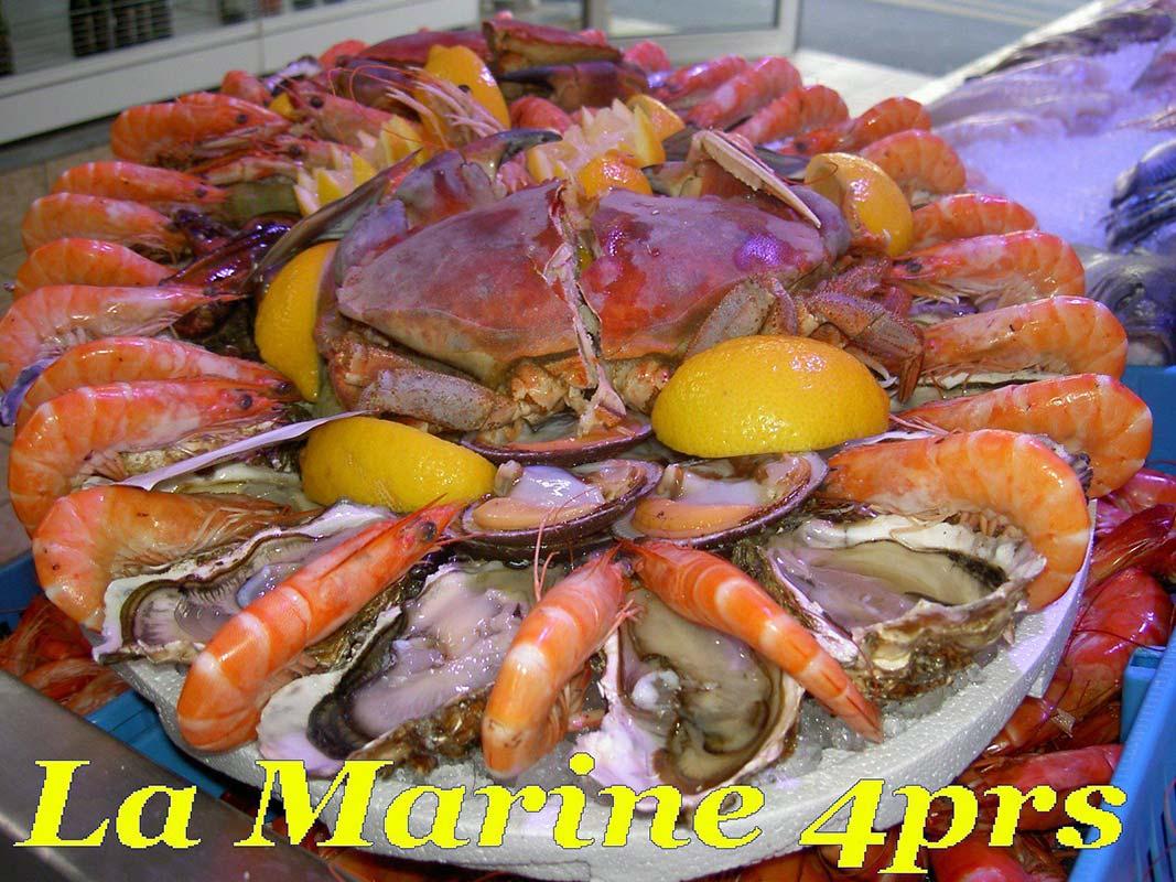 plateaux de fruits de mer à Brive-la-Gaillarde | Au Pêcheur Sétois